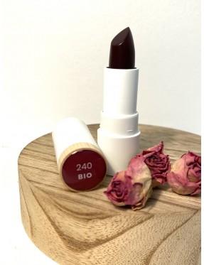 Rouge à lèvre 240 - Baisé Violet - Glossy - couleur caramel - louloudya - crémieu