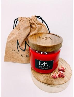 Bougie Fruits Rouges - Mat & Amandine - moyenne 350g - Louloudya boutique de cadeaux à Crémieu