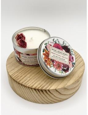 Bougie & Boîte métal Sweet Floral Melody - boutique de cadeau - Crémieu - Isère - Rhône-Alpes