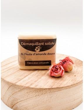 Démaquillant solide - Huile d'amande douce - cosmétique naturelle - boutique de cosmétique naturelle - crémieu - isère