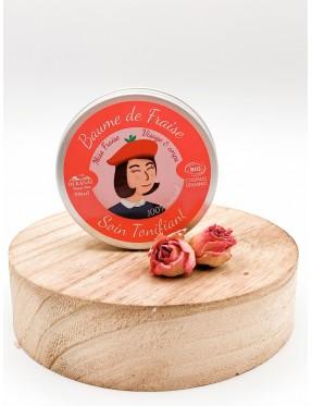 Baume de Fraise - Soin Tonifiant - cosmétique naturel -isère