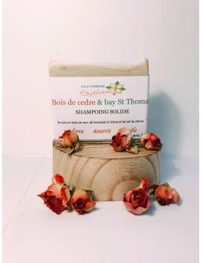 Shampoing Solide bois de cèdre et Lait de Chèvre 140g - produit esthétique bio Lyon